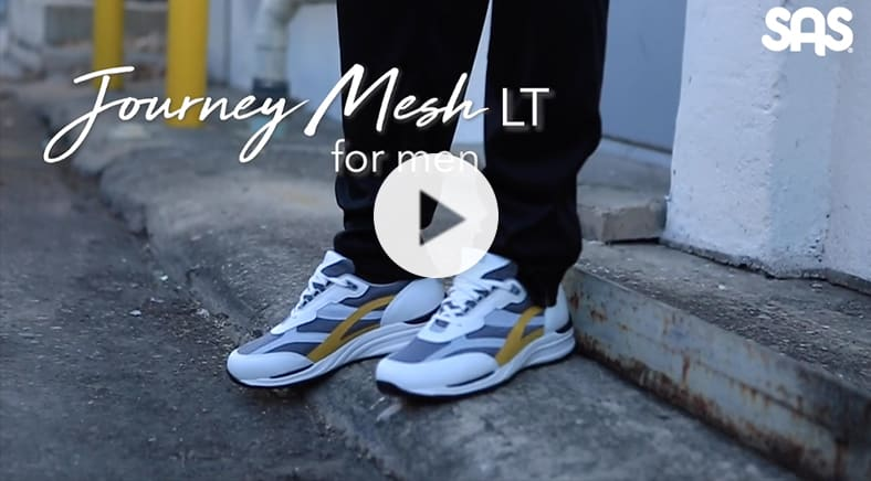 Media Alternative, Men's Journey Mesh LT Lace Up Sneaker Youtube Video (opens in new window)